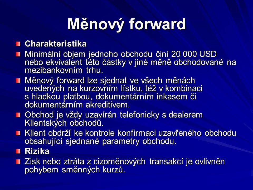 Měnový forward Charakteristika