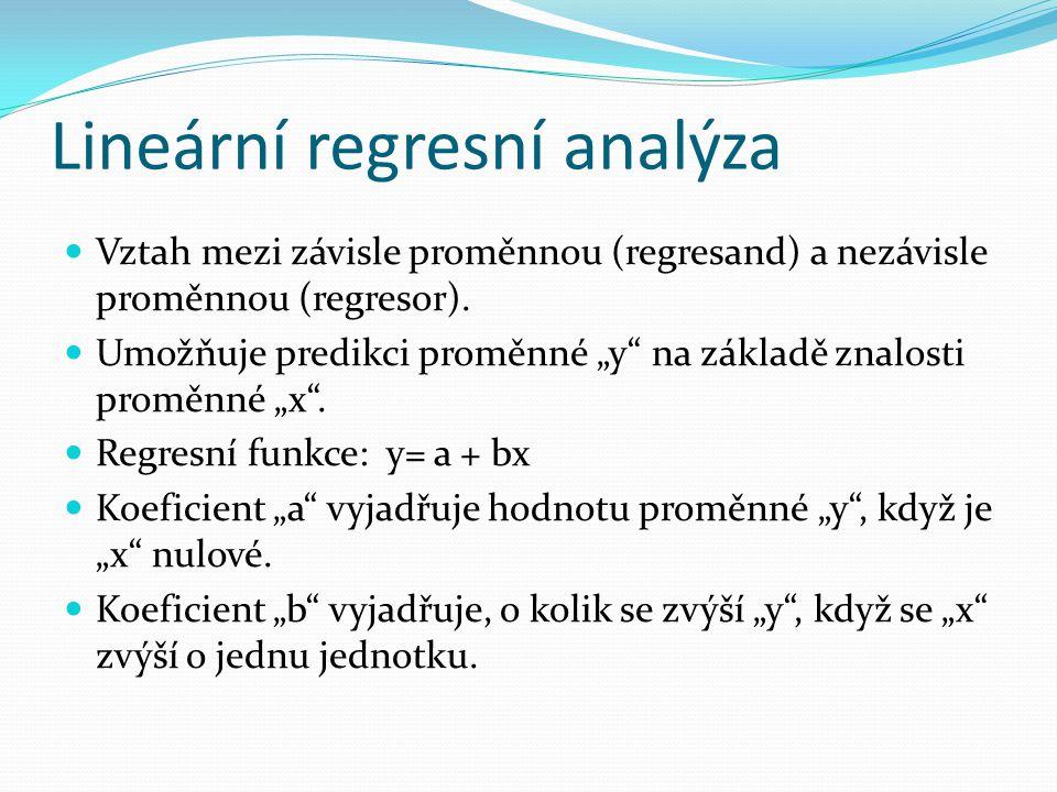 Lineární regresní analýza