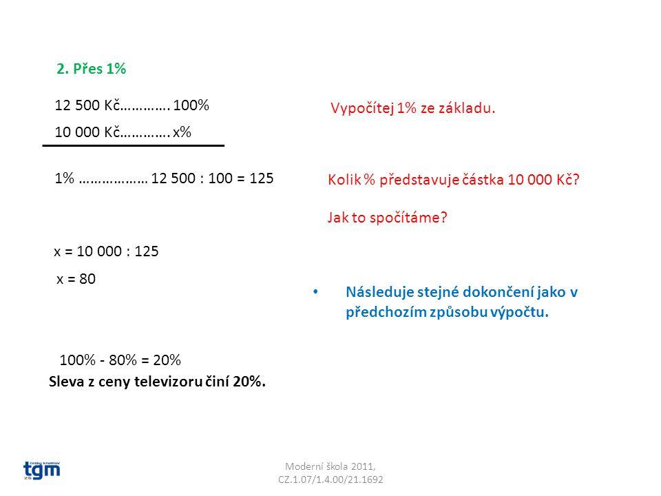 Kolik % představuje částka 10 000 Kč