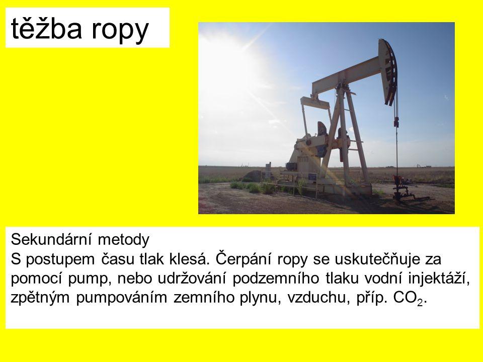 těžba ropy Sekundární metody