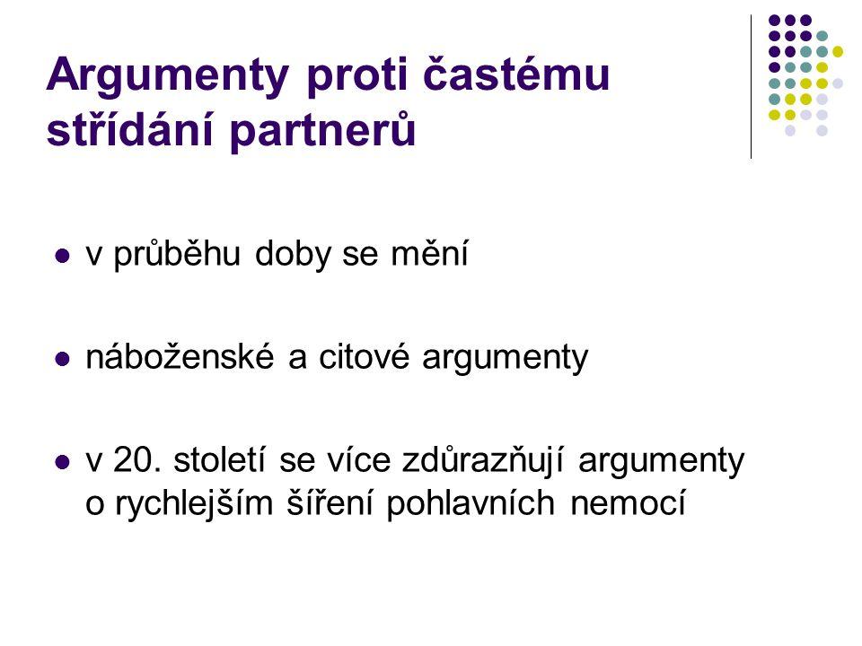 Argumenty proti častému střídání partnerů