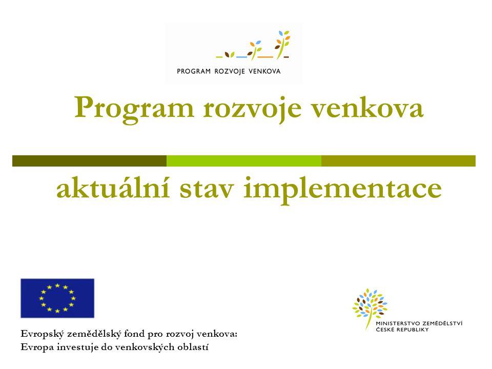Program rozvoje venkova aktuální stav implementace