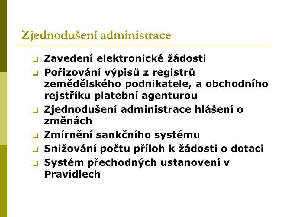 Zjednodušení administrace