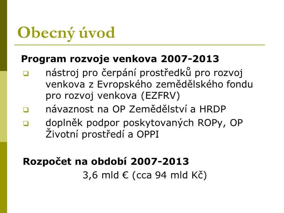 Obecný úvod Program rozvoje venkova 2007-2013