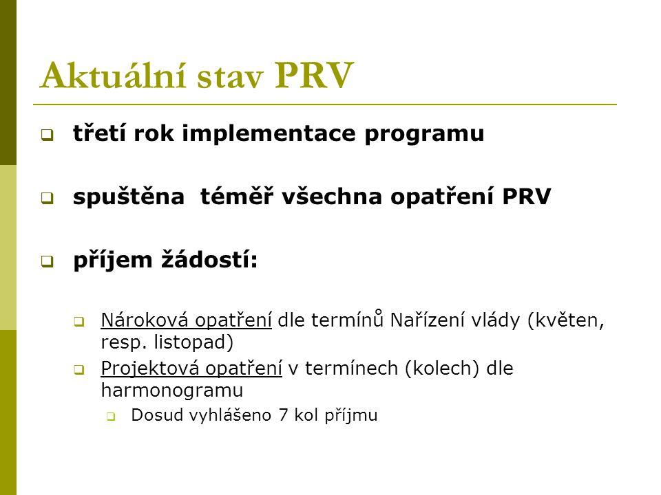Aktuální stav PRV třetí rok implementace programu