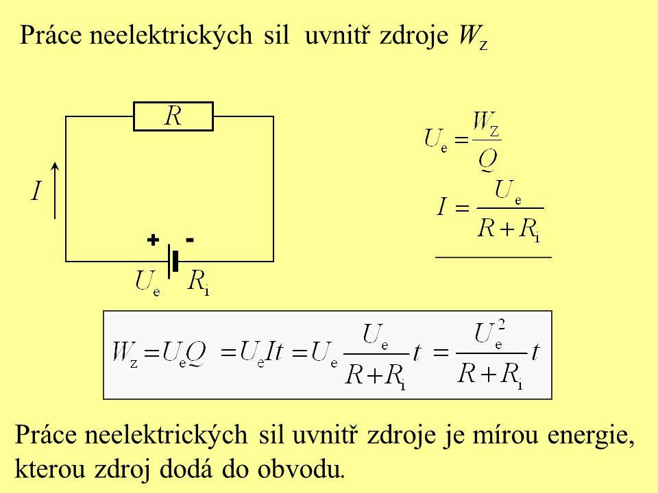 Práce neelektrických sil uvnitř zdroje Wz