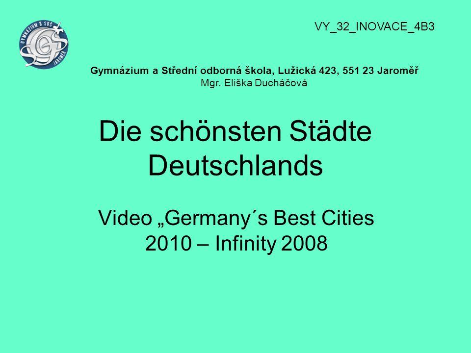 Die schönsten Städte Deutschlands