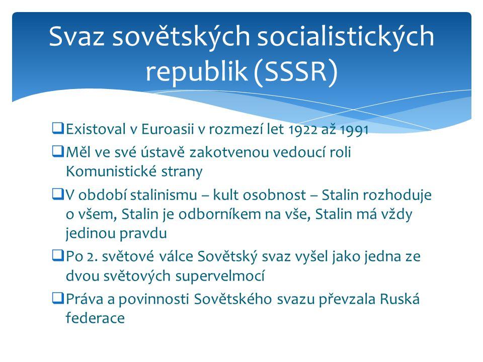 Svaz sovětských socialistických republik (SSSR)