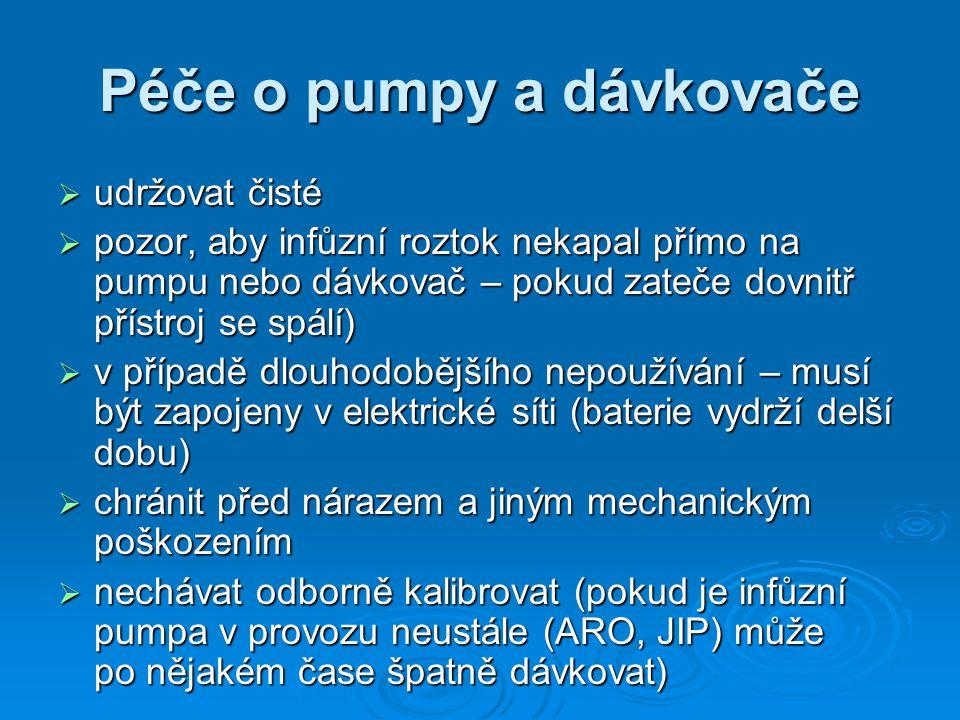 Péče o pumpy a dávkovače