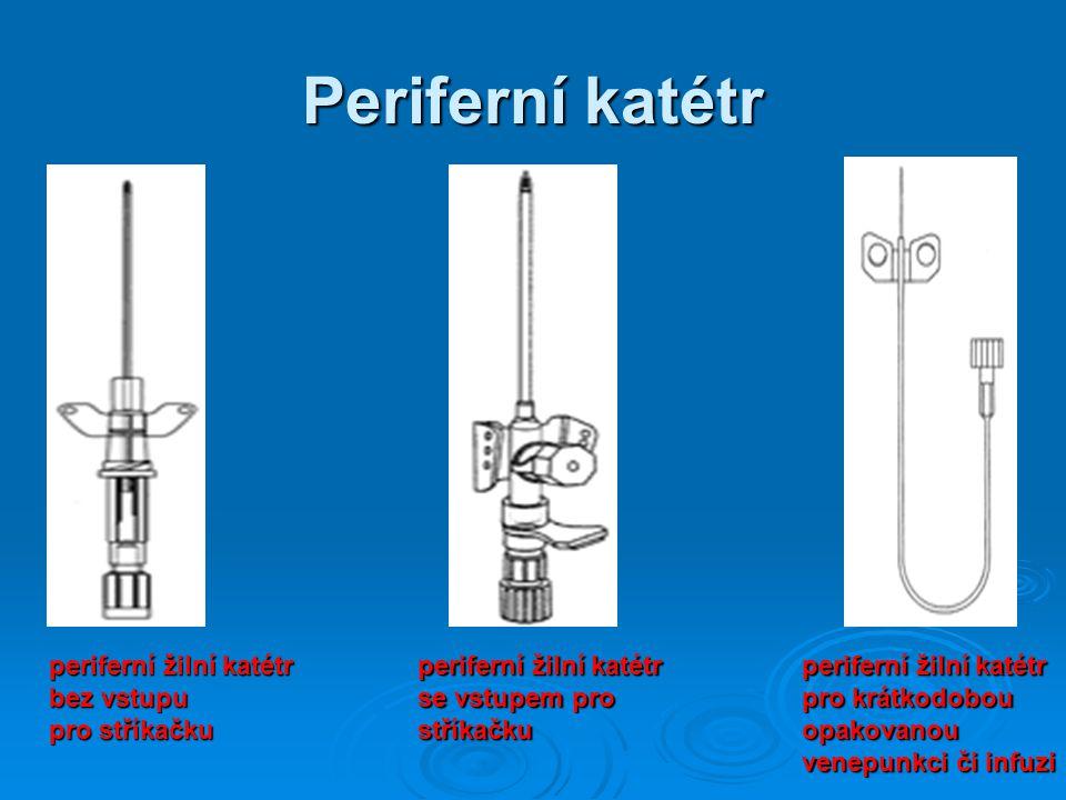 Periferní katétr periferní žilní katétr bez vstupu pro stříkačku