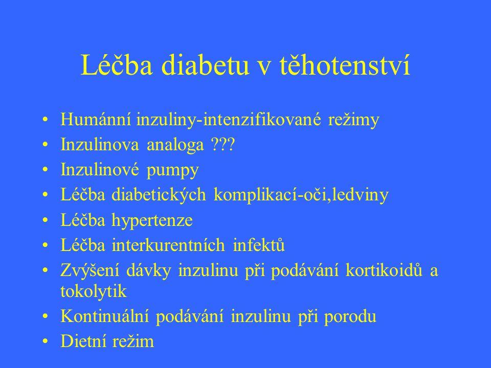 Léčba diabetu v těhotenství