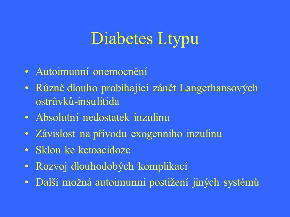 Diabetes I.typu Autoimunní onemocnění