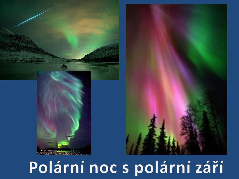 Polární noc s polární září