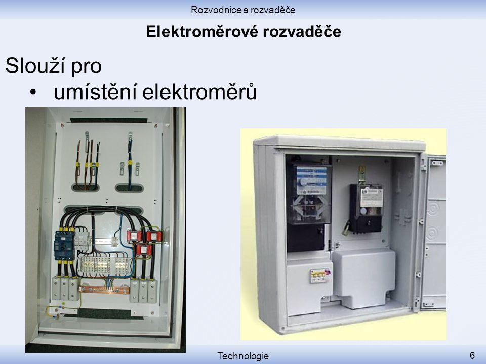 Elektroměrové rozvaděče