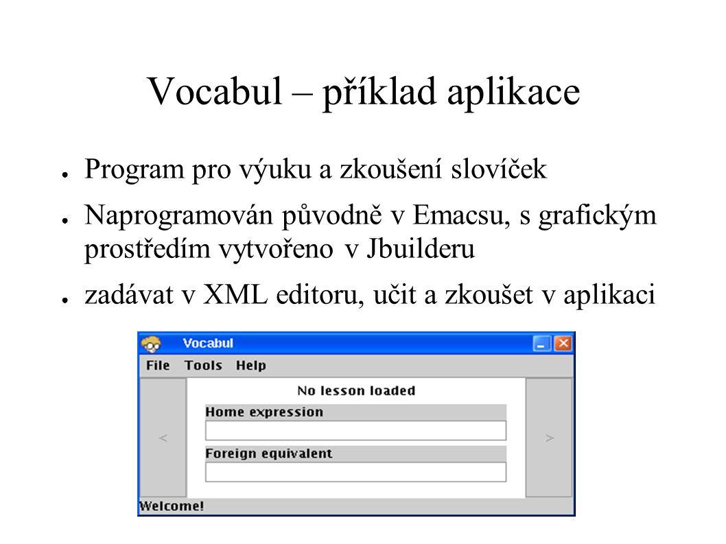 Vocabul – příklad aplikace