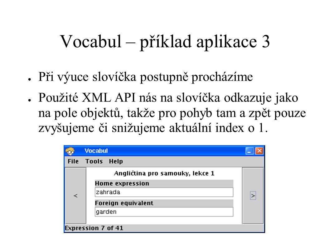 Vocabul – příklad aplikace 3