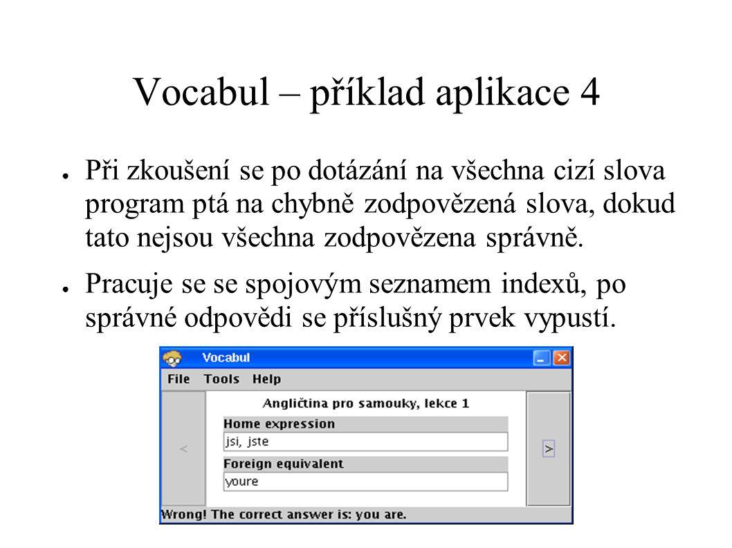 Vocabul – příklad aplikace 4