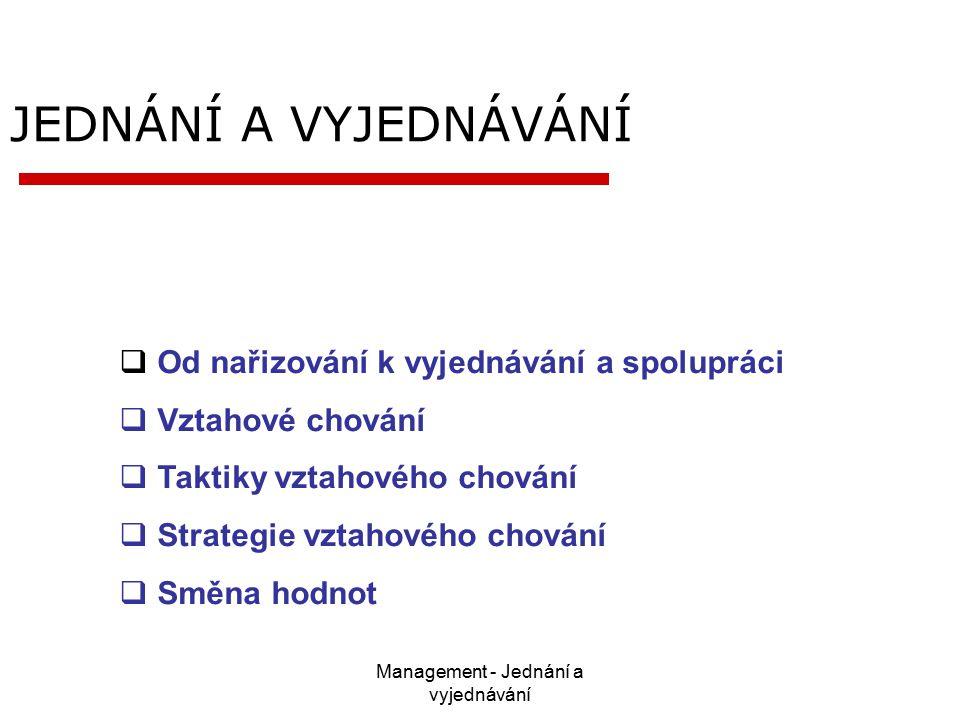 Management - Jednání a vyjednávání