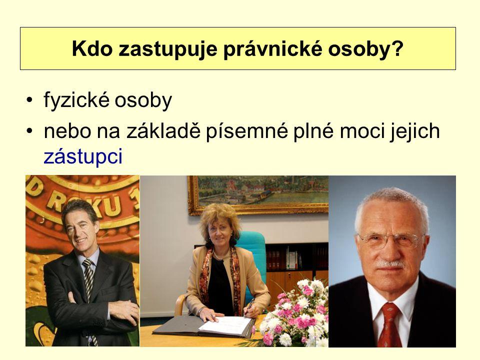 Kdo zastupuje právnické osoby