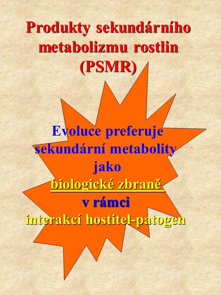 Produkty sekundárního metabolizmu rostlin (PSMR)