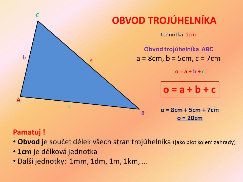 Obvod trojúhelníka ABC