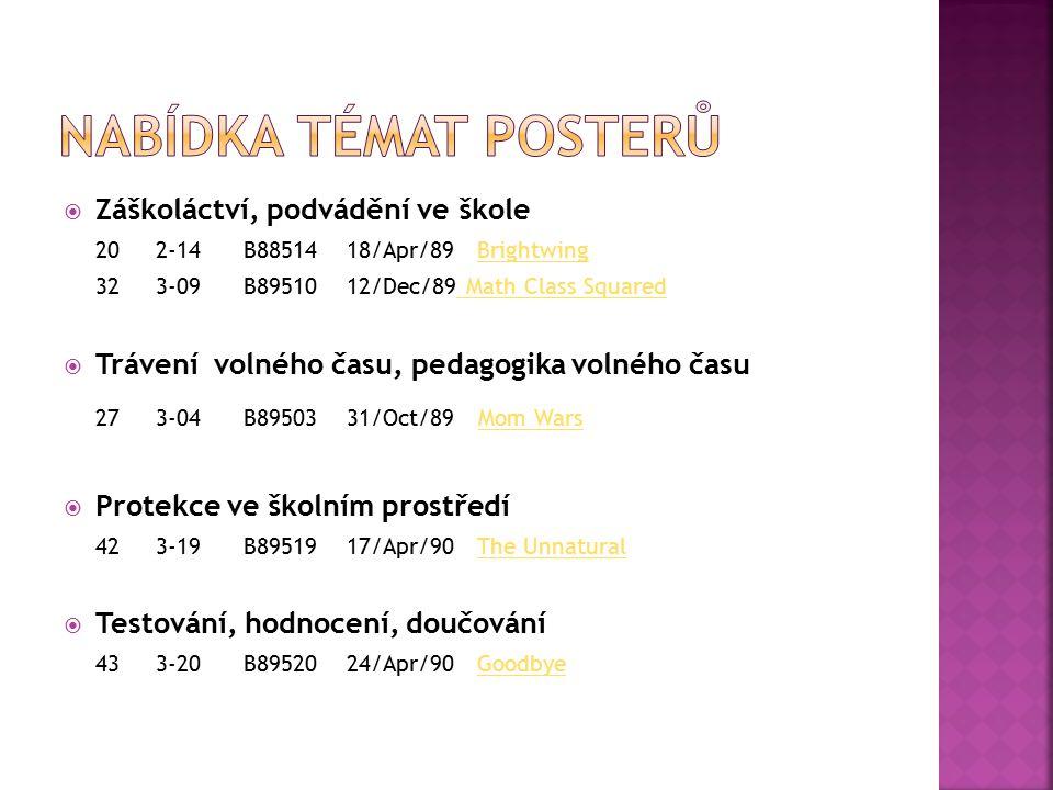 Nabídka témat posterů 27 3-04 B89503 31/Oct/89 Mom Wars