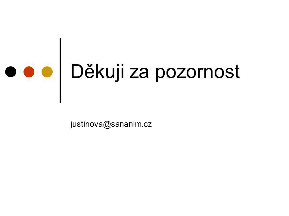 Děkuji za pozornost justinova@sananim.cz