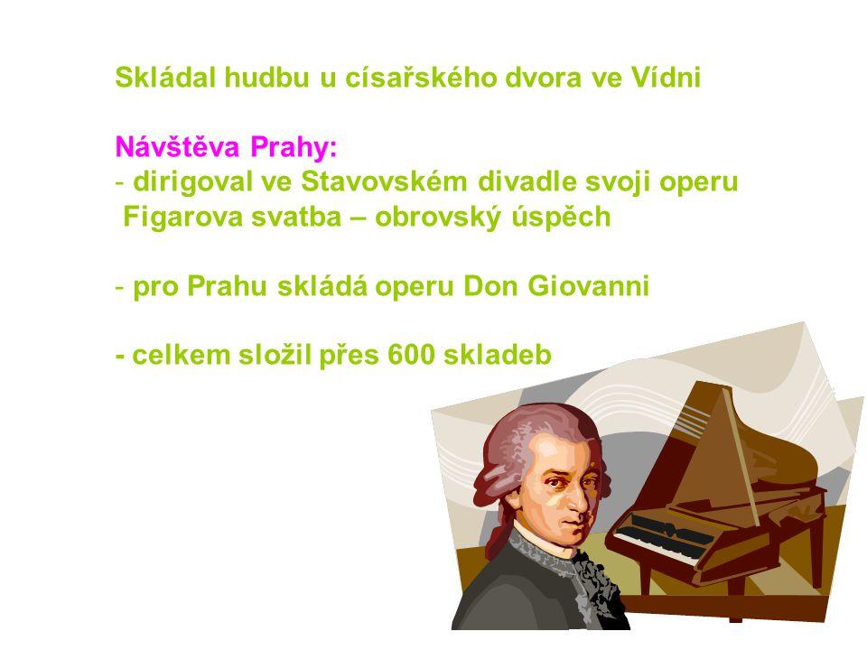 Skládal hudbu u císařského dvora ve Vídni