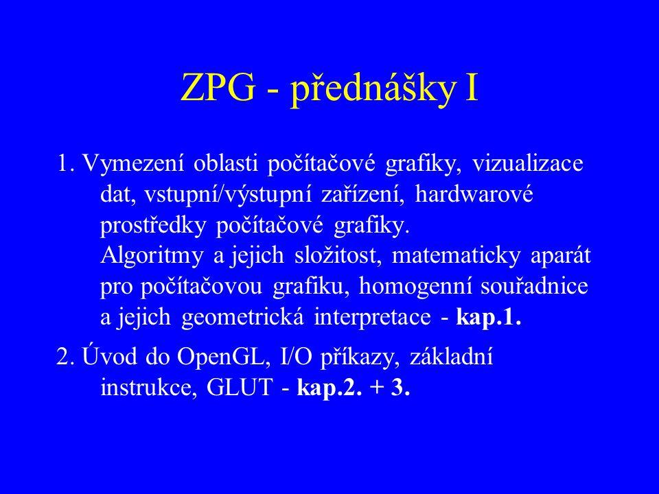 ZPG - přednášky I