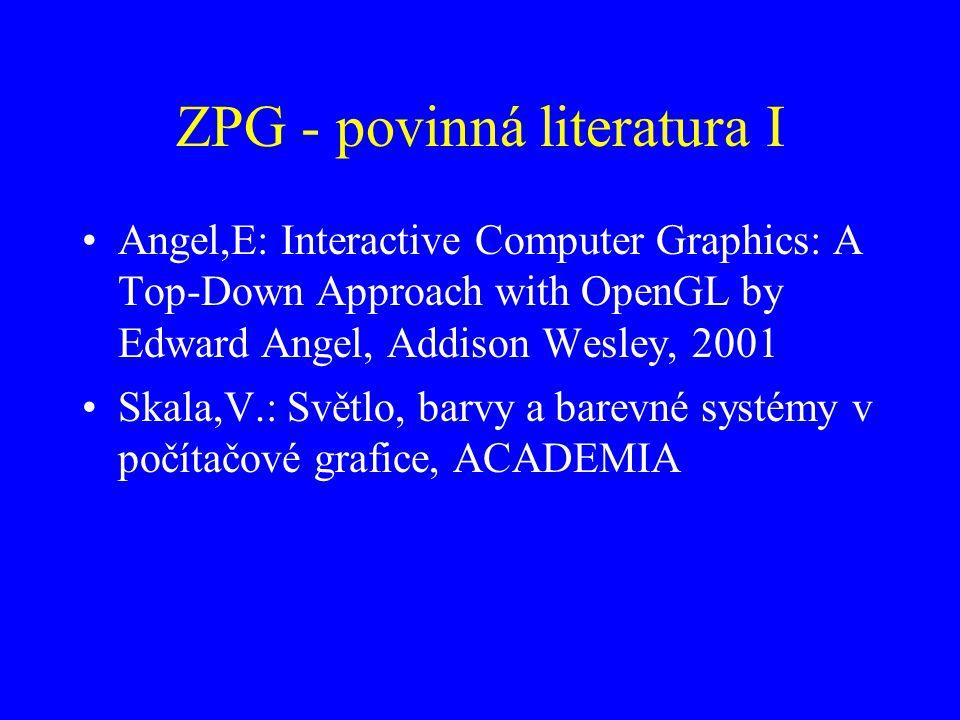 ZPG - povinná literatura I