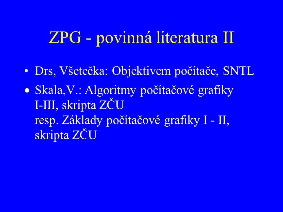 ZPG - povinná literatura II