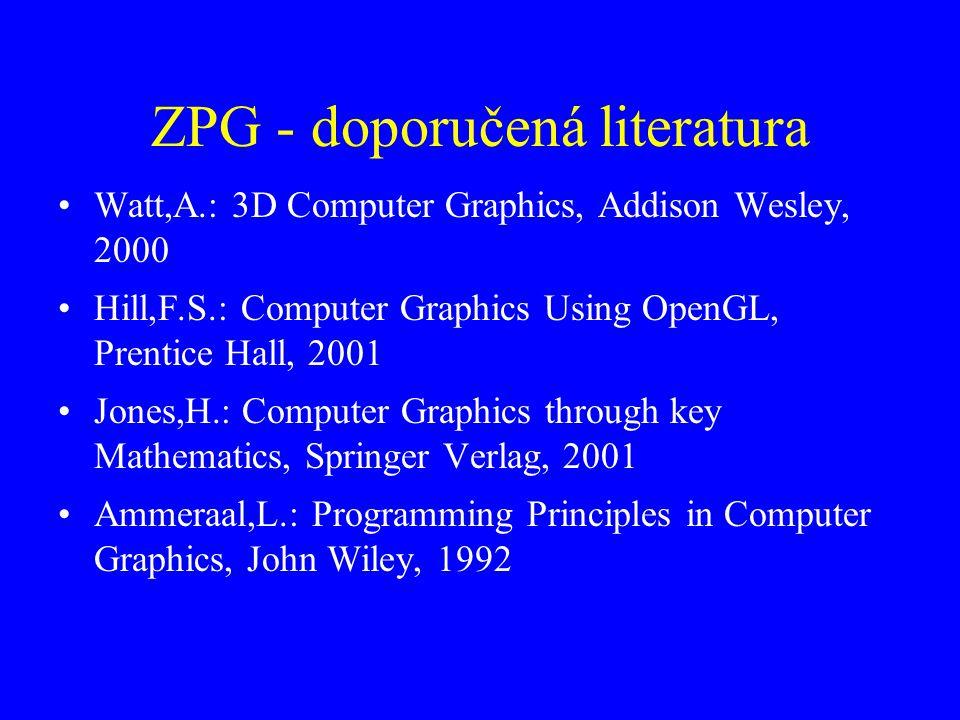 ZPG - doporučená literatura