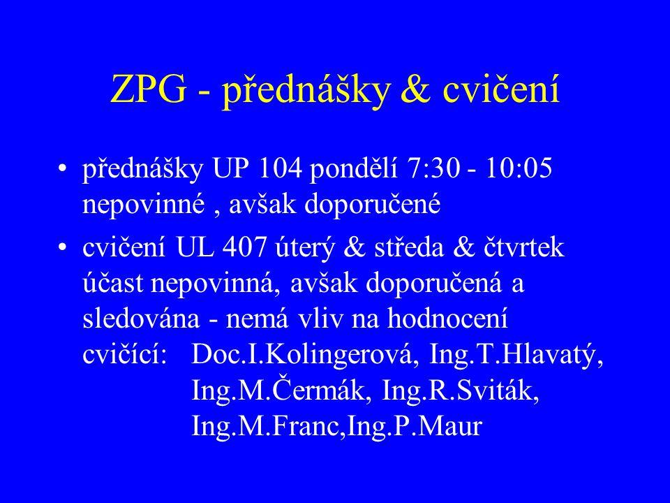 ZPG - přednášky & cvičení