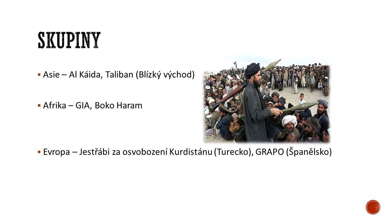 skupiny Asie – Al Káida, Taliban (Blízký východ)