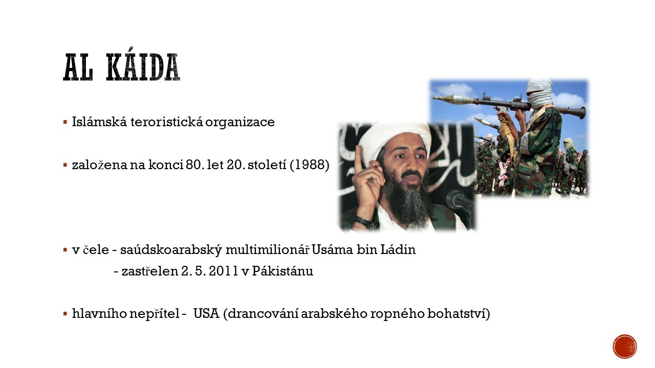 Al Káida Islámská teroristická organizace