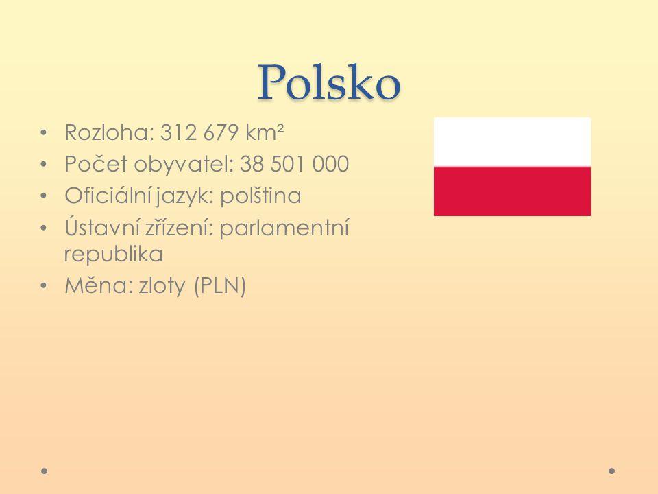 Polsko Rozloha: 312 679 km² Počet obyvatel: 38 501 000