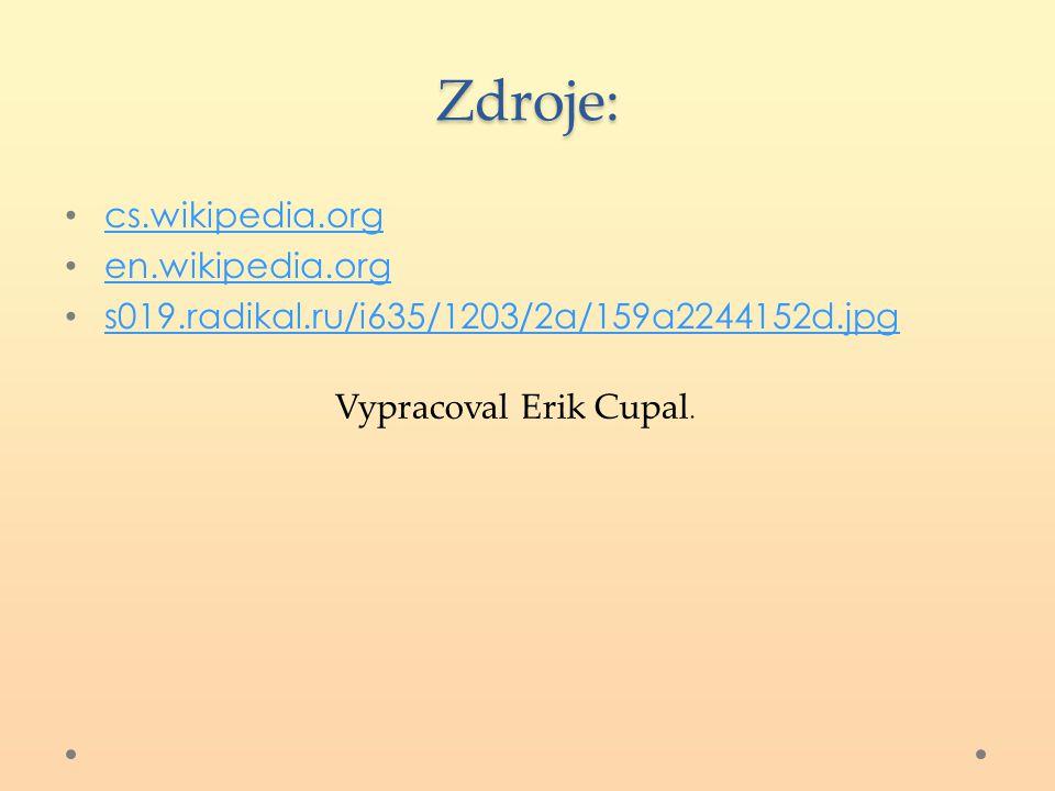 Zdroje: cs.wikipedia.org en.wikipedia.org