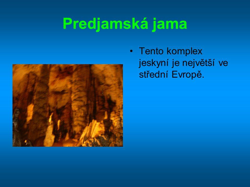 Predjamská jama Tento komplex jeskyní je největší ve střední Evropě.