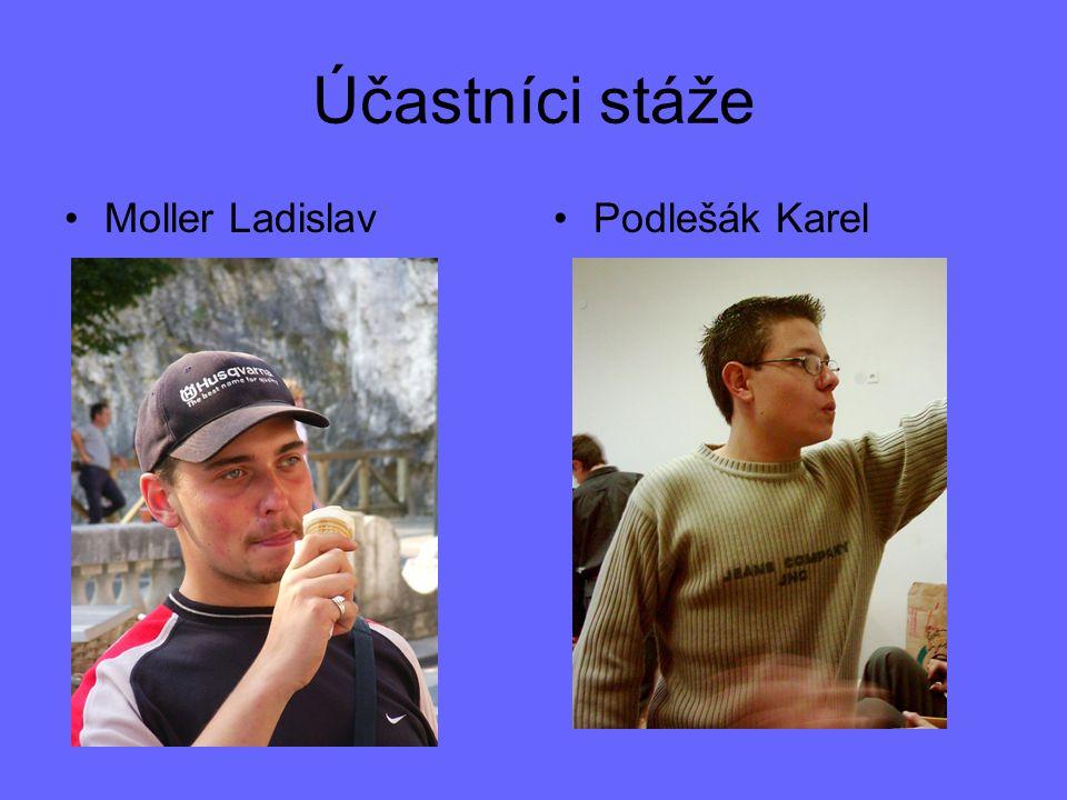 Účastníci stáže Moller Ladislav Podlešák Karel