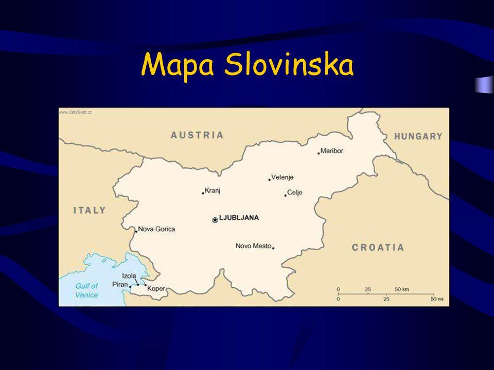 Mapa Slovinska
