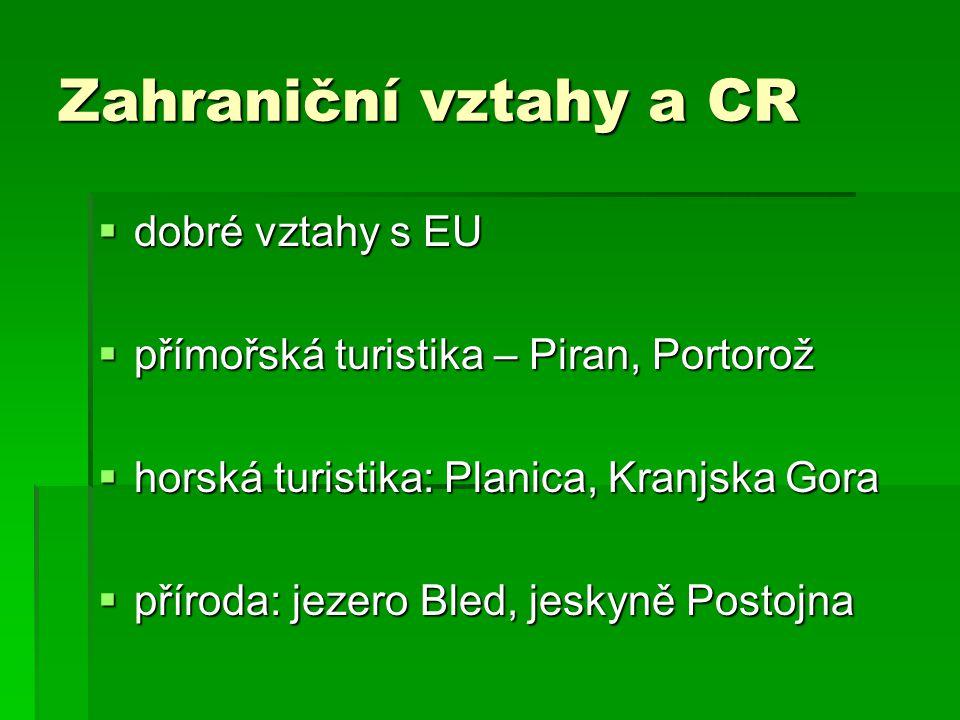 Zahraniční vztahy a CR dobré vztahy s EU