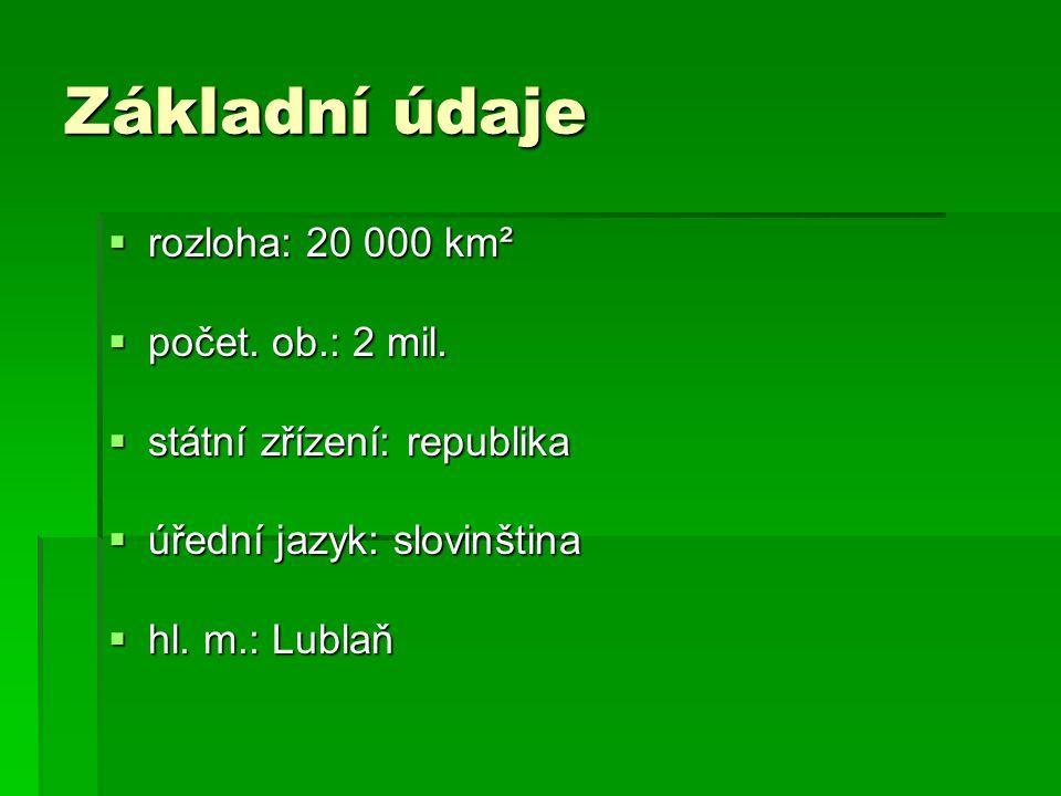 Základní údaje rozloha: 20 000 km² počet. ob.: 2 mil.