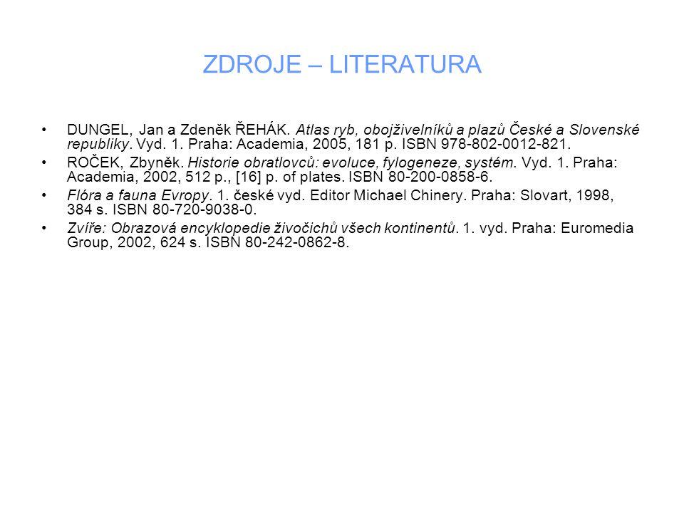 ZDROJE – LITERATURA