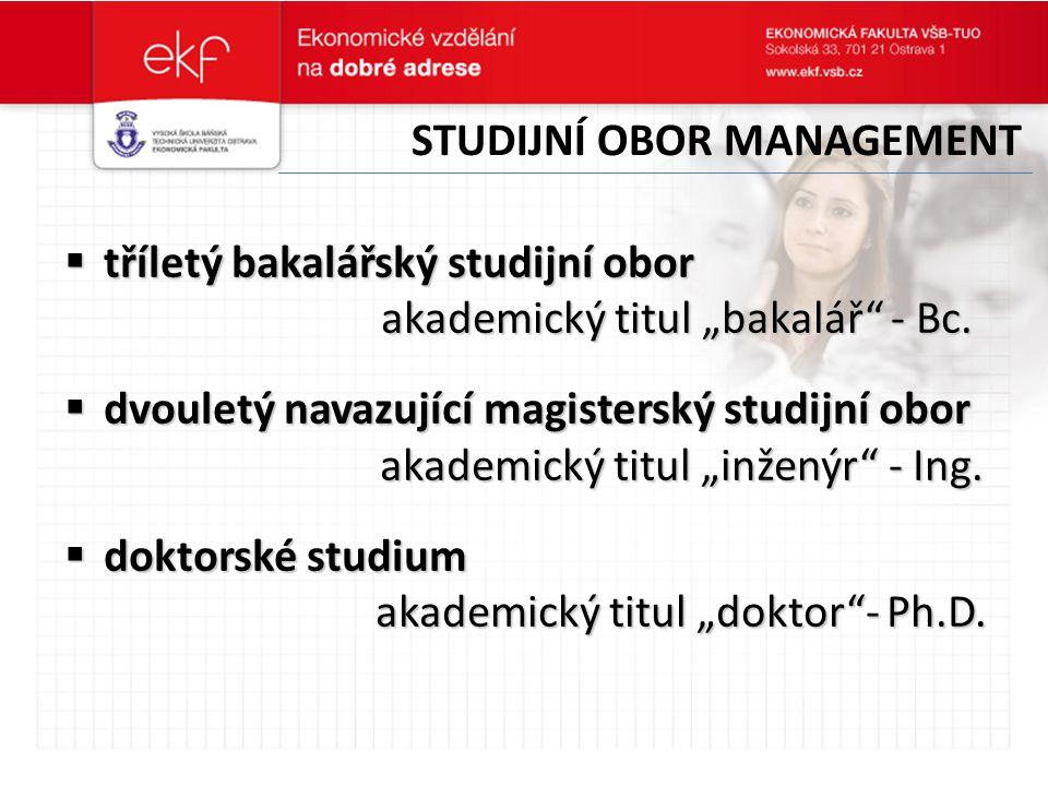 Studijní obor management