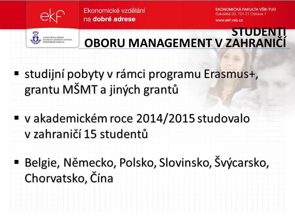 Studenti oboru management v zahraničí