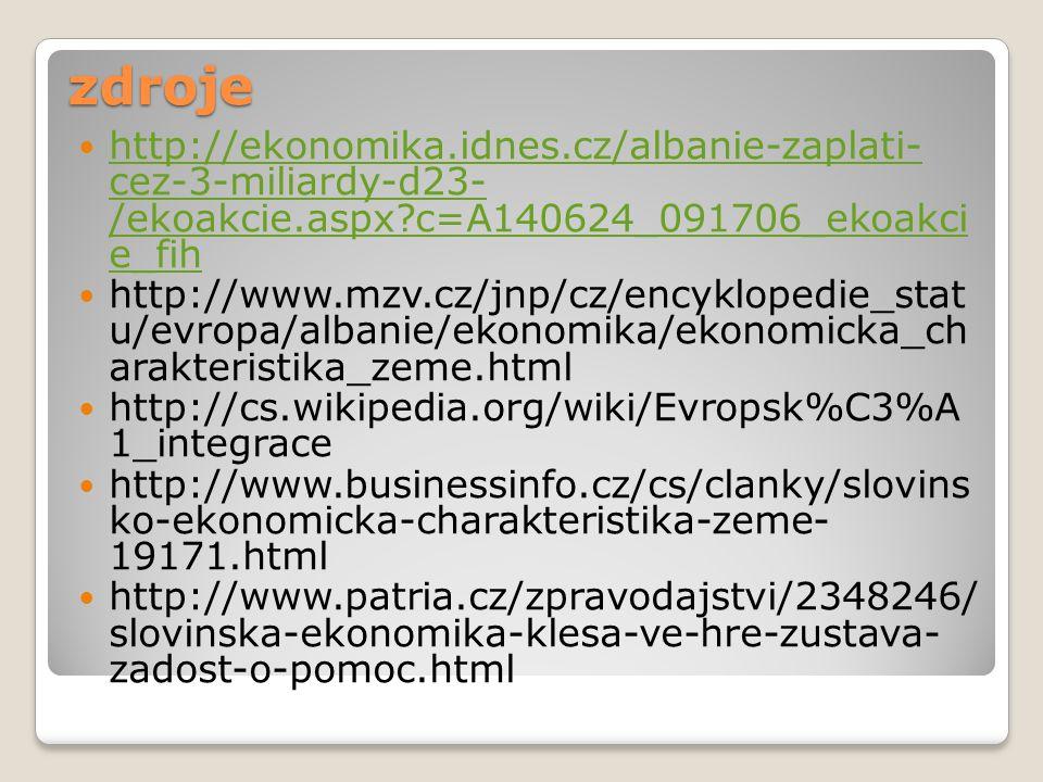 zdroje http://ekonomika.idnes.cz/albanie-zaplati- cez-3-miliardy-d23- /ekoakcie.aspx c=A140624_091706_ekoakci e_fih.