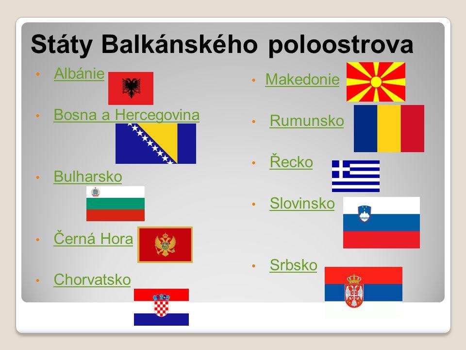Státy Balkánského poloostrova