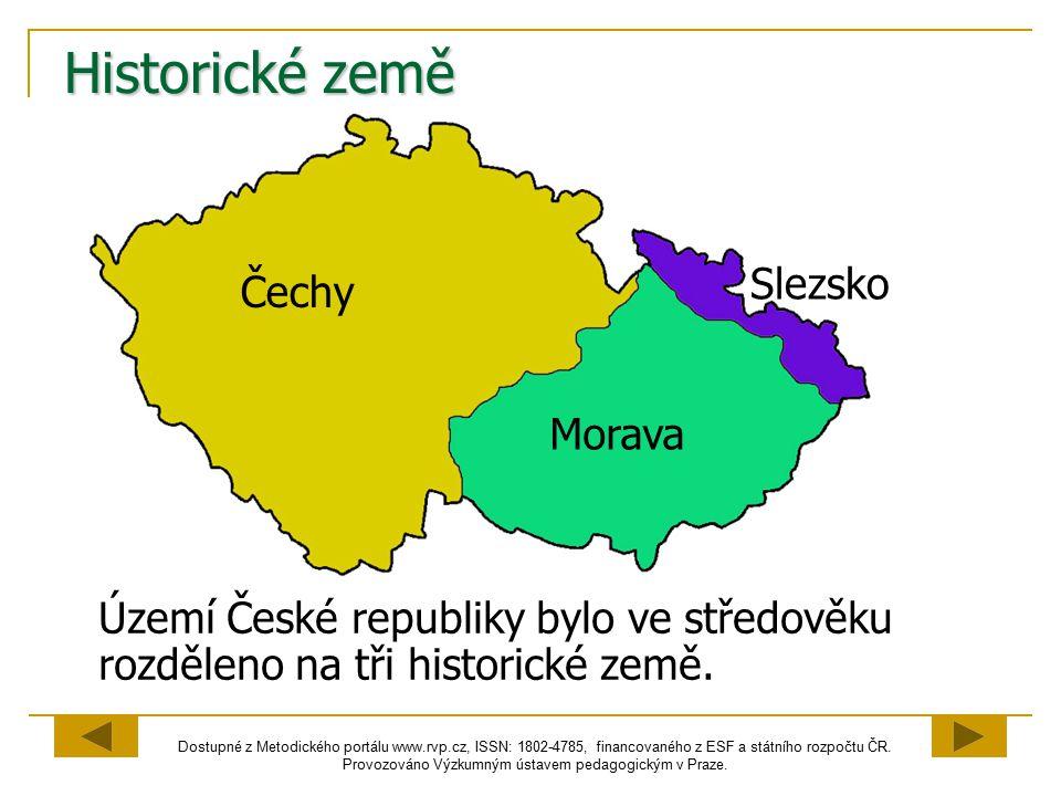 Historické země Slezsko Čechy Morava