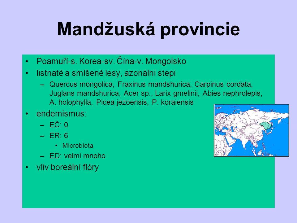 Mandžuská provincie Poamuří-s. Korea-sv. Čína-v. Mongolsko