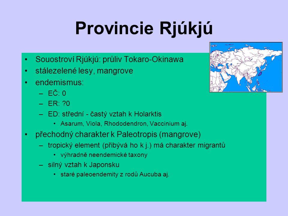 Provincie Rjúkjú Souostroví Rjúkjú: průliv Tokaro-Okinawa